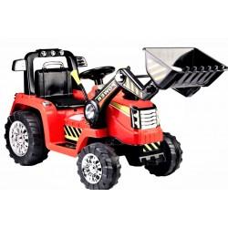 czerwony Traktor Koparka...