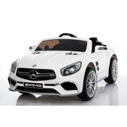 biały Mercedes SL65 12V,...