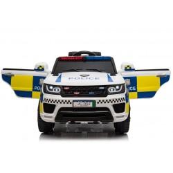 biały POLICYJNY POJAZD NA...