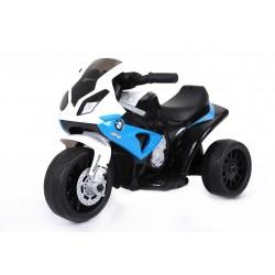niebieski  Motorek BMW na...